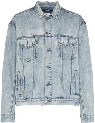 Ksubi Acid-Wash Distressed Denim Jacket