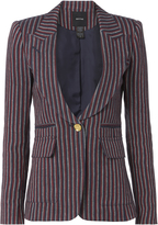 Smythe Single Button Striped Linen Blazer