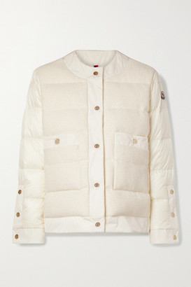 Moncler Miriam Quilted Cotton-blend Tweed And Shell Down Jacket - Cream