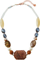 Nakamol Chunky Beaded Stone Necklace in Nude Mix