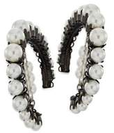 Erickson Beamon Solidarity Faux-Pearl Hoop Earrings