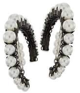 Erickson Beamon Solidarity Faux-Pearl Hoop Earrings
