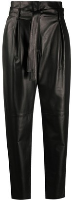 Drome Paperbag-Waist Tapered Trousers
