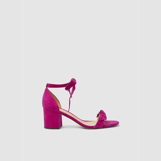 Alexandre Birman Pink Clarita Block-Heel Suede Sandals IT 40