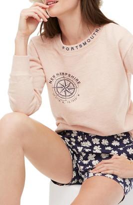J.Crew Portsmouth, New Hampshire Original Cotton Terry Sweatshirt