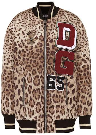 Dolce & Gabbana Embellished satin bomber jacket