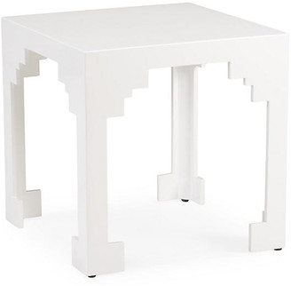 Chelsea House Emile Cut-Corner Side Table - White