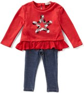 Jessica Simpson Baby Girls 12-24 Months Star Ruffle-Hem Top & Jeggings Set