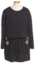 Little Marc Jacobs Toddler Girl's Swan Embroidered Blouson Dress
