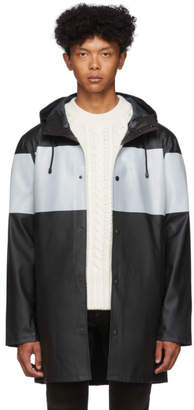 Stutterheim Black Reflective Stripe Stockholm Raincoat