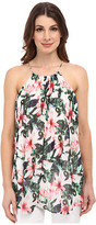 Vince Camuto Sleeveless Jungle Lily Halter Blouse