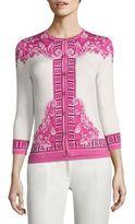 Versace Printed Silk-Blend Cardigan