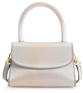 BY FAR Mini Iridescent Leather Top Handle Bag