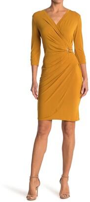 T Tahari Wrap Midi Dress
