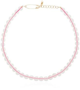 Loren Stewart 14kt Gold Beaded Choker Necklace
