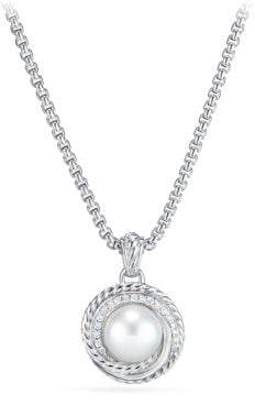 David Yurman Crossover® Pearl Pendant Necklace With Diamonds