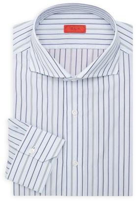 Isaia Slim-Fit Stripe Seasonal Dress Shirt