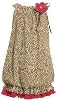 Bonnie Jean Girls 2-6X Leopard Print Knit Bubble Dress