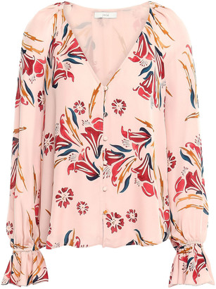 Joie Boyana Floral-print Silk Crepe De Chine Blouse