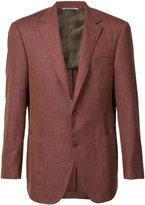 Canali two-button blazer - men - Silk/Linen/Flax/Wool - 52