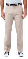Haggar Solid Stretch Poplin Pant - Straight Fit, Flat Front, Flex Waistband