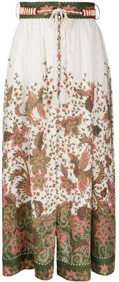 Zimmermann Empire Batik print skirt