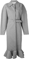 Awake gingham oversized coat - women - Cotton/Polyester/Polyurethane/Wool - S