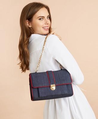 Brooks Brothers Denim Chain-Strap Shoulder Bag