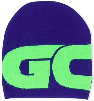 Gcds Kids Colour-Block Logo Beanie
