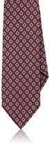 Barneys New York Men's Medallion-Pattern Silk Necktie-BROWN