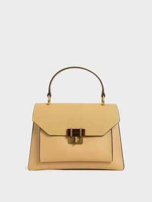 Charles & Keith Stone-Embellished Geometric Bag