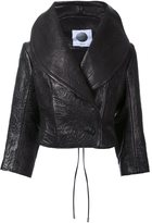 Aganovich wide lapel cropped jacket