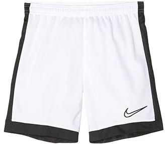 Nike Kids Dry Academy Soccer Shorts (Little Kids/Big Kids) (White/Black/Black/Black) Boy's Shorts