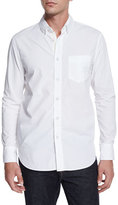 Rag & Bone Solid Long-Sleeve Sport Shirt, White