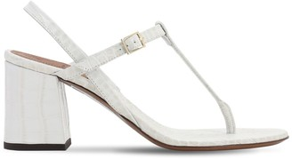L'Autre Chose 70mm Croc Embossed Leather Thong Sandal