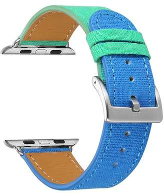 Turquoise/Blue Posh Tech Linen 38mm Apple Watch 1/2/3/4 Band