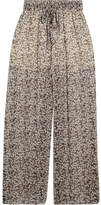 Zimmermann Printed Silk-crepon Wide-leg Pants - Anthracite