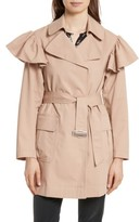 Rebecca Taylor Women's Ruffle Trim Trench Coat