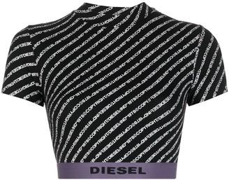 Diesel logo waist cropped T-shirt