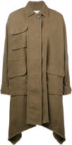 Valentino long caban parka coat - women - Cotton/Linen/Flax - 38