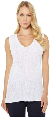 Elliott Lauren Top It Off V-Neck Sweater Tank (Tan) Women's Clothing