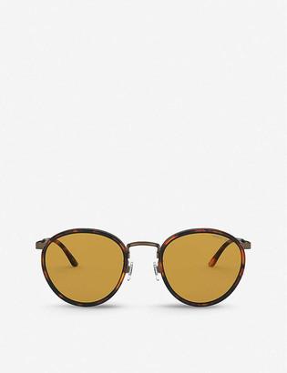 Giorgio Armani AR101M acetate round-frame sunglasses