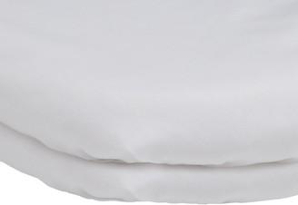 John Lewis & Partners Baby's Pram/Crib Flat Sheets, 100 x 75cm, Pack of 2, White