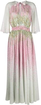 Giambattista Valli Floral-Print Flared Dress