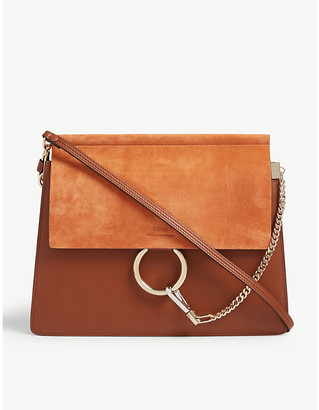 Chloé Faye suede and leather satchel