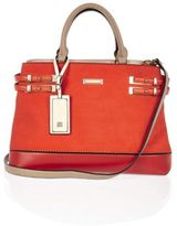 River Island Womens Orange Bag Double Side Strap Tote