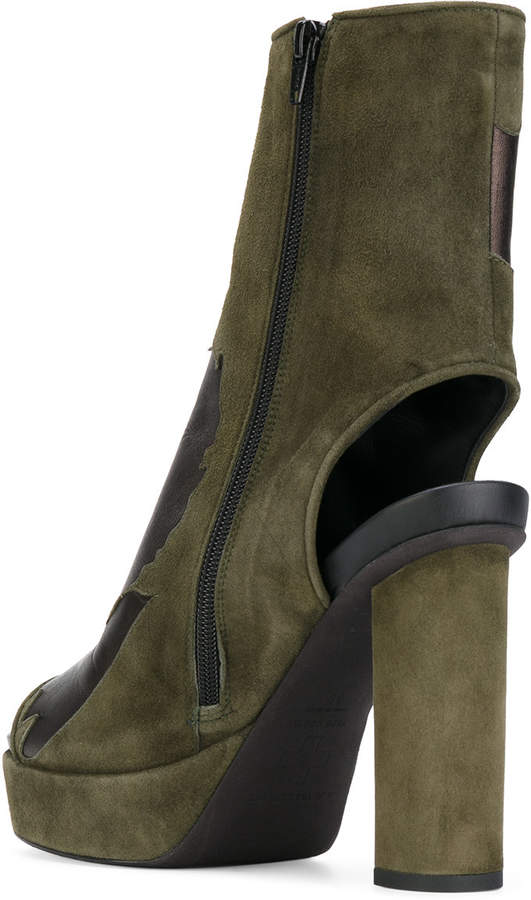 A.F.Vandevorst cut-out detail boots