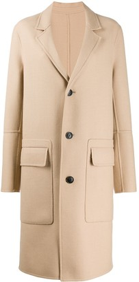 AMI Paris Unstructured Buttoned Coat