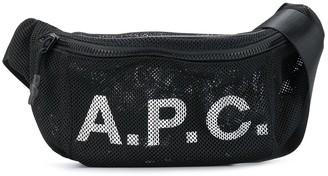 A.P.C. Mesh Printed Logo Belt Bag