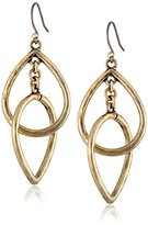 Lucky Brand Gold Double Teardrop Earrings